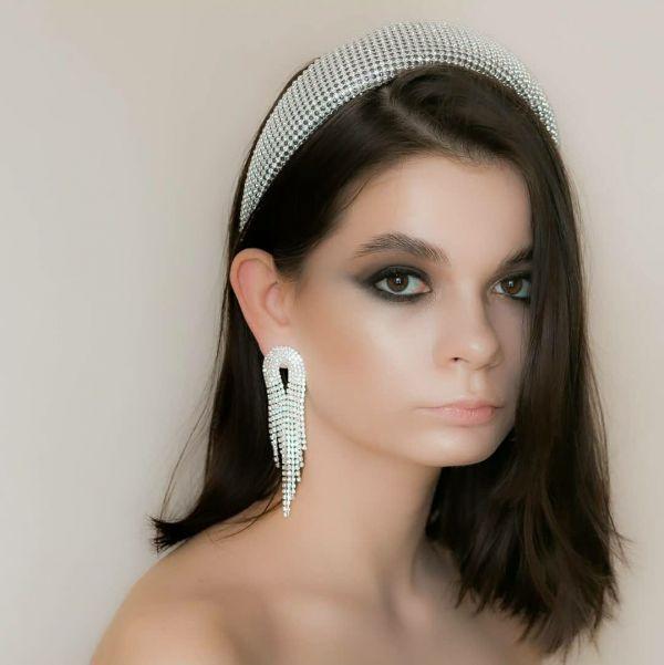Женский обруч для волос и серьги (комплект)